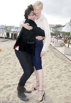 Ezra Miller and Tilda Swinton at Cannes - We Need To Talk About Kevin