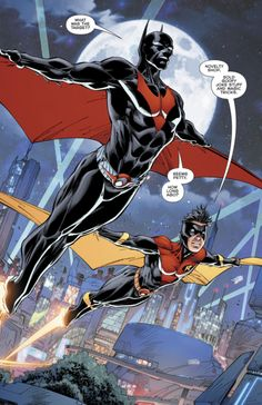 "Batman & Robin in Batman Beyond ""The Final Joke III"" - Brett Booth, Inks: Norm Rapmund, Colors: Andrew Dalhouse Batman Arkham City, Im Batman, Batman Art, Batman Robin, Gotham City, Future Batman, Dc Comics Characters, Dc Comics Art, Marvel Dc Comics"