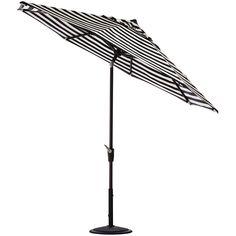 Home Decorators Collection 7.5 ft. Aluminum Auto Tilt Patio Umbrella in Sunbrella