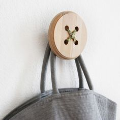 One-of-a-Kind Japanese Design Button Hangers by Shigeki Yamamoto