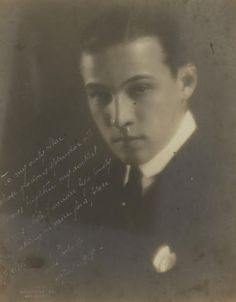 Handsome Rudolph Valentino