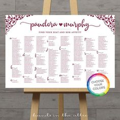 Wine burgundy seating chart wedding table plan large guest list wedding seating board poster printable - Choose your own colors - DIGITAL by HandsInTheAttic Wedding Seating Board, Wedding Guest Table, Wedding Reception, Wedding Book, Reception Ideas, Fun Wedding Invitations, Wedding Games, Wedding Ideas, Wedding Decorations
