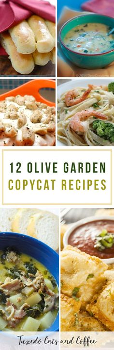 I love the food at Olive Garden, but it's pretty far away and a little pricey. Fortunately you can make similar recipes to what they serve in the restaurant at home. Here are 12 Olive Garden copycat recipes (and more roundups of copycat recipes!).