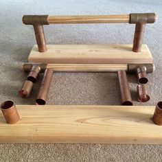 """Parallettes Option #2 – DIY Wooden P-bars (The """"Cadillac"""" Option) Find more Equipment in our store at http://www.focusfitnesshouston.com/store/"""