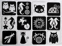 Black & White Baby Graphics Infant Visual by MakoCreativeStudio