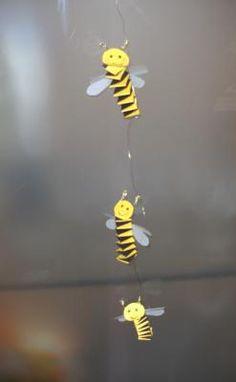 Frühling Im Kindergarten Coole Biene Aus Papier Basteln
