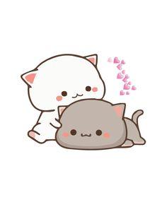 Womens Cute Cat Cartoon Gift for kitten lovers Funny coloring Art T-Shirt Cute Cartoon Girl Drawing, Cute Bunny Cartoon, Cute Kawaii Animals, Cute Cartoon Pictures, Kawaii Cat, Cute Love Pictures, Cute Love Memes, Cute Disney Wallpaper, Cute Cartoon Wallpapers