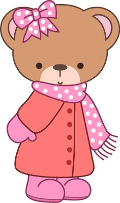 Free winter bear clipart from www.cutecolors.com