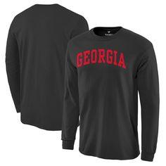 Georgia Bulldogs Basic Arch Long Sleeve T-Shirt - Black - $14.39
