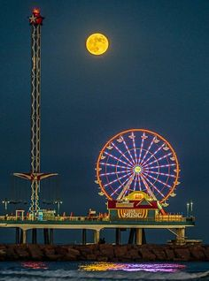 Galaxy Ferris Wheel - Galveston Texas