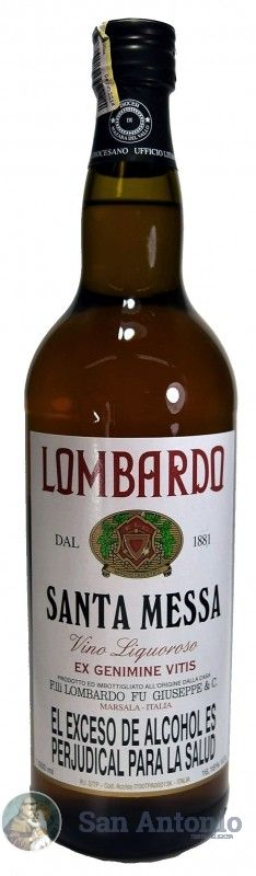 Vino De Misa Lombardo: Más de un siglo de presencia en el mercado nacional e internacional es la mejor garantía de la excelente calidad que nuestros vinos. Hoy Bodegas Lombardo ofrece una gran variedad de productos, capaz de cubrir las diferentes necesidades.