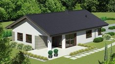 Projekt Dom przy Pastelowej 17 D 105 m2 - koszt budowy - EXTRADOM Dom, Gazebo, Shed, Outdoor Structures, Cabin, Mansions, House Styles, Outdoor Decor, Home Decor