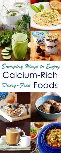 Dairy-Free Calcium-Rich Foods - Recipes and Ideas to enjoy them everyday (all plant-based) (Fried Food Recipes) Dairy Free Yogurt, Dairy Free Diet, Dairy Free Recipes, Diet Recipes, Vegan Recipes, Vegan Food, Tahini, Sin Gluten, Food Truck