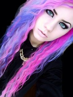 Purple and pink dyed alternative hair