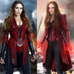 In your opinion, which Scarlet Witch suit do you prefer? Marvel Dc, Marvel Women, Marvel Girls, Comics Girls, Marvel Heroes, Marvel Comics, Captain Marvel, Scarlet Witch Costume, Scarlet Witch Marvel