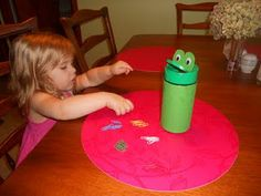 parmesan cheese container turned frog for counting practice or to use as a token system while administering the GFTA Speech Language Therapy, Speech And Language, Speech Therapy, Therapy Activities, Activities For Kids, Therapy Ideas, Sensory Play, Sensory Diet, Token System