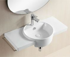 Geo Semi Recessed Vessel Sink By Nameek S 4the Bathroom