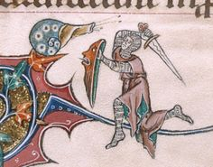 BLL_Add49622_f193v_d The next occurrence, in the Canticles, is on f. 193v. In the lower marginalia the high-positioned snail is overlooking a knight ready for attack, shielding himself off while he has raised his sword.