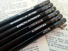 """19 Magical Gifts For People Who Love """"Harry Potter"""" Set of 6 Hogwarts inspired HB graphite lead black pencils, hand. École Harry Potter, Cadeau Harry Potter, Objet Harry Potter, Harry Potter Bricolage, Fans D'harry Potter, Anniversaire Harry Potter, Mundo Harry Potter, Harry Potter Birthday, Harry Potter Products"""