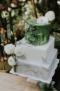 "Because Crystal Bridge Tropical Conservatory at the Myriad Botanical Gardens is quickly becoming the ""it,. Mint Wedding Cake, Summer Wedding Cakes, Floral Wedding Cakes, Elegant Wedding Cakes, Wedding Cake Toppers, Rustic Wedding, Myriad Botanical Gardens, Botanical Gardens Wedding, Garden Wedding"