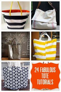 24 fabulous tote tutorials