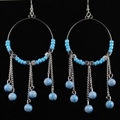 beaded earrings come in 6 different colors! $5.99