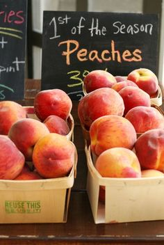 Here's to the fresh peach! Or just enjoying the taste of a sweet, fresh one now and then - juice dribbling down my chin, lol. Fruit And Veg, Fruits And Veggies, Fresh Fruit, Peach Fruit, Peach Jam, Just Peachy, The Fresh, Farmers Market, Berries