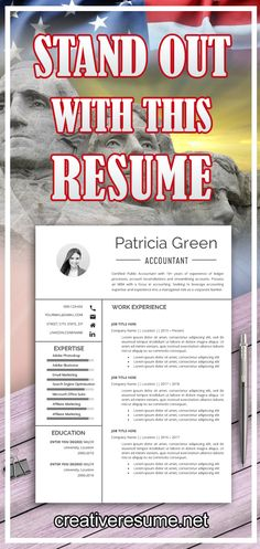 Impressive Professional 2 Page Resume template (Cover Letter Template included) to get your dream job. Stand out with your job CV template! Job Resume Template, Creative Resume Templates, Cv Template, Resume Tips, Resume Cv, Employee Goals, Job Cv, Resume Words, Good Resume Examples