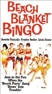 """""""Beach Blanket Bingo"""" (1965), the pinnacle of the Frankie Avalon/Annette Funicello drive-in surfin' pictures. A very old Buster Keaton provides some nice silent comedy, and Don Rickles does his usual bit. The Hondells (""""Little Honda"""") play backup for rocker Sugar Kane (Linda Evans of """"Dynasty"""")."""