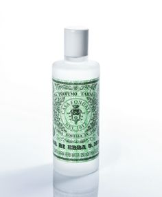 Santa Maria Novella Herb and Mint Water. This ALCOHOL FREE potion, protects against aggressive environmental elements and relieves tired muscles in the bath. Great for men, this refreshing herbal splash should be used just after showering all over the body to tone the skin. Naturally reduces perspiration and odors. Use for temporary relief from migraines by soaking a clean washcloth in herb water and placing it over eyes and nose, breathe in vapors. Available in 16.9 and 8.45 oz.
