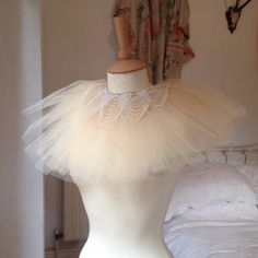 Hey, I found this really awesome Etsy listing at https://www.etsy.com/listing/211114743/tulle-victorian-doll-neck-ruff
