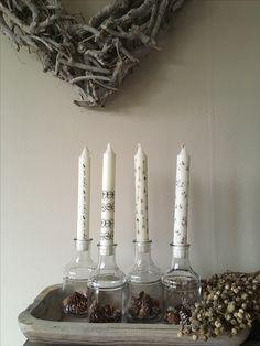Leuke Rustik Lys kaarsen met een printje 😍