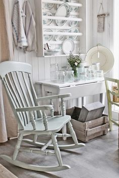 Looking for cottage kitchen ideas? We present 11 secrets to getting the cosy country cottage interior design vibe of your dreams. Country Cottage Interiors, Cottage Kitchens, Cottage Chic, Cottage Style, Old Wooden Chairs, Vibeke Design, House And Home Magazine, Shabby Chic Decor, Decoration