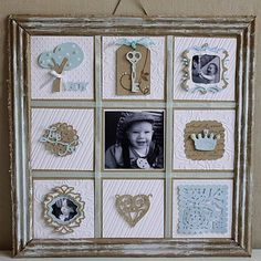 Scrapbooked photo frame.
