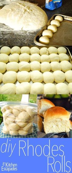 Frozen Dinner Rolls DIY Frozen Rhodes Rolls – make your own rolls that turn out even better than the kind in the store! Perfect recipe for Thanksgiving and Christmas dinner because you can make them ahead of time Freezer Cooking, Freezer Meals, Cooking Recipes, Freezer Recipes, Meat Recipes, Drink Recipes, Cooking Tips, Rhodes Rolls, Rhodes Dinner Rolls