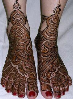 Indian Bridal Mehndi Designs For Feet