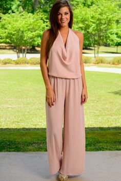 Hustle And Flow Jumpsuit, Blush