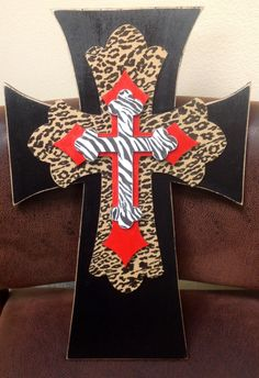 Decorative Wooden Stacked Cross by AnointedDesigns on Etsy, $45.00