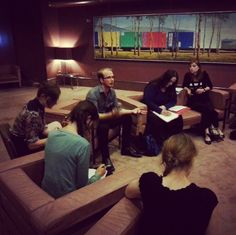Last night at #artscentremelb, Creative Producer Neal Harvey leads discussion on Artist Development in the first #melbfringe Forum for 2013.