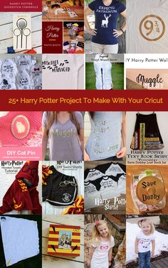 From t-shirts to decor and even photo booth props, this post rounds up 25 Harry Potter crafts you can make with your Cricut!
