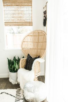 The perfect little nook for reading, relaxing, and reflecting on the day