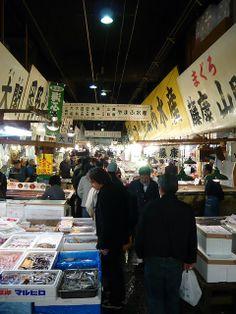 Tsukiji fish market, Japan   by WordRidden, via Flickr