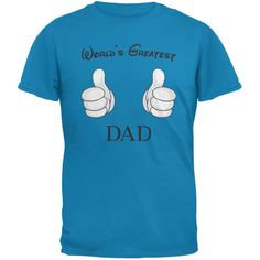 Father's Day - World's Greatest Dad Cartoon Sapphire Blue Adult T-Shirt