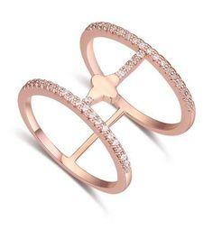 Rhodium Plated Fashion ring