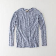 Steven Alan - Long Sleeve Yarn Dyed Pocket T-Shirt
