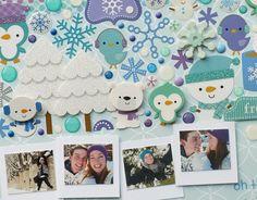 Doodlebug Design Inc Blog: Frosty Friends: Sticker Collage Layout