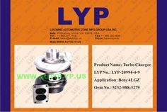 LYP-20994-4-9TURBO CHARGER/TURBOCOMPRESOR5232-988-3279REPLACEMENT FOR/REEMPLAZO PARABENZ4LGZ