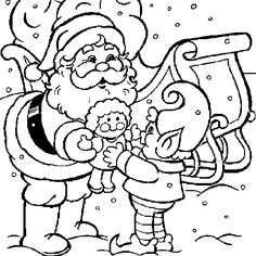 1000 images about noel on pinterest papa noel 2 a and - Pere noel a colorier et imprimer ...