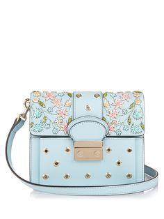 Embellished leather shoulder bag  4a9d017b57973