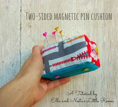 Two-Sided, Magnetic Pin Cushion tutorial from Ella & Nesta's Little Room